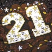 Chocolate 21st Birthday Card